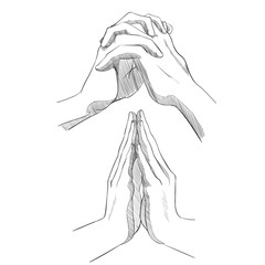 Set of sketch hands.