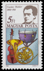 Stamp printed in Hungary shows Gustav Mahle