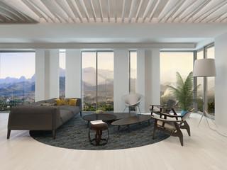 Architectural Modern Living Room Design