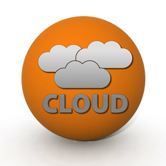 Cloud circular icon on white background