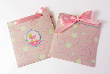Baby girl envelope