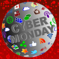 sphere cyber monday social media icons
