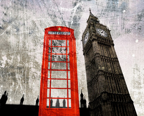 Old London Composing Telefonzelle und Big Ben