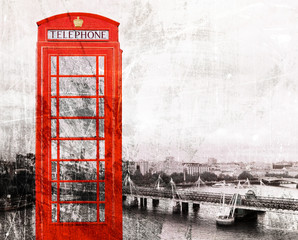 Rote Telefonzelle London, Vintage