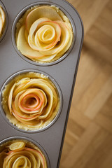 Mini Rose Shaped Apple Tarts