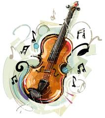 Fototapete - Vintage Violin