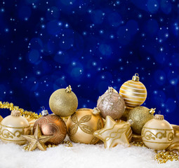 golden christmas night