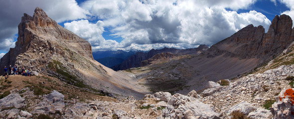 Latemar Group - view from Campanili Pass