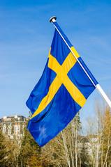 Drapeau suédois, suède