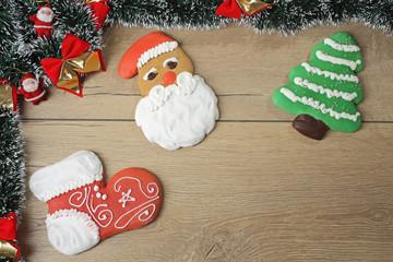 Natale dolci di cannela colorati