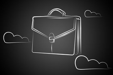 Briefcase art illustration