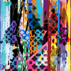abstract background, with strokes, splashes, stripes and triangl