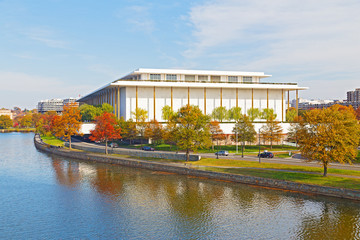 Kennedy Performing Arts Center in autumn Washington DC