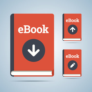 eBook ilustration in download, upload and edit modifications.