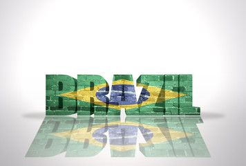 Word Brazil on the white background