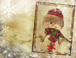 Vintage Christmas background with copy space