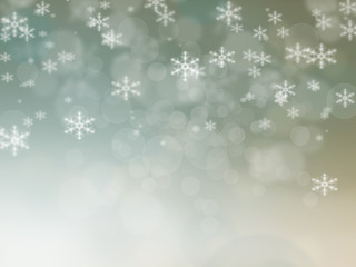 Abstract Christmas background of holiday lights