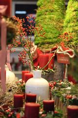 Weihnachtliche Blumenvase