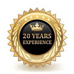 Twenty Years Experience Badge