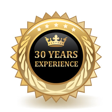Thirty Years Experience Badge