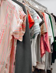 Thrift shop clothes rack