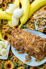 fresh banana walnut bread