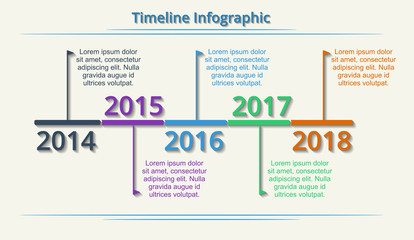 Timeline Web Element Template. Vector.