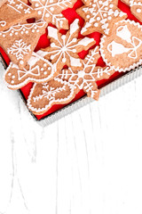gingerbread cookies christmas background