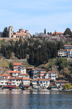 Plaosnik Or Saint Kliment Church and Ohrid Lake