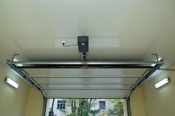 Automatic garage door inside