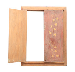 picture frame design of wood have lid close are image buddha
