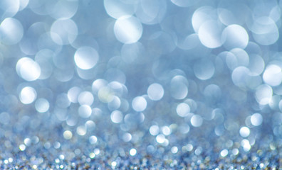 Blue christmas winter background with copy space