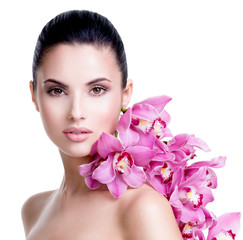 Wall Mural - Beautiful young pretty woman with healthy skin.