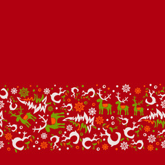 vector seamless Christmas 5