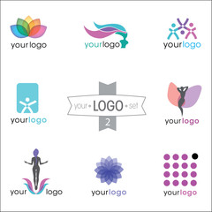 logo design set: beauty, fashion, clinic, gym, wellness