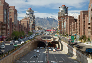 Cars Passing Through Tohid Tunnel of Tehran