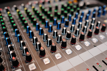 audio control desk