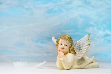 Grußkarte himmlischer Engel zu Weihnachten, Trauer, Träume
