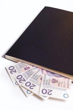 Book calendar wit money
