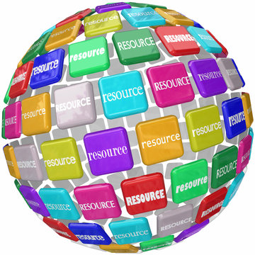 Resource Word Tiles Globe Important Information Access Skills Kn
