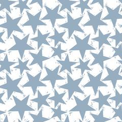 Grey stars seamless pattern, geometric contemporary style repeat