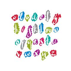 Script font vector, vector alphabet letters.