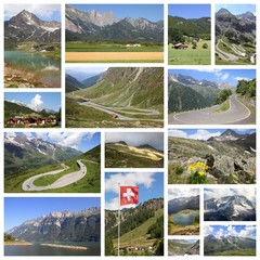 European Alps - photo collage