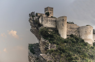 Fortress on the rock Wall mural