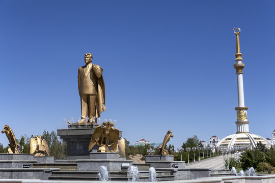 Independence Monument in Ashgabat Turkmenistan