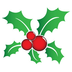 Holly berry symbol with gradient