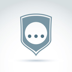 Personal data protection icon, three dots placed on a circle, gr