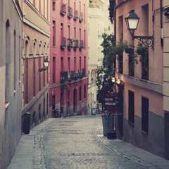 The street in Madrid, Spain.