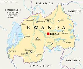 Rwanda Political Map