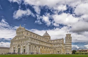 Foto op Textielframe Artistiek mon. Beautiful view of Pisa Cathedral.